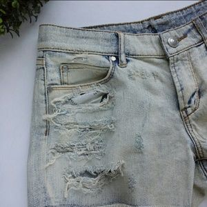 Articles of Society Distressed Denim Shorts w25
